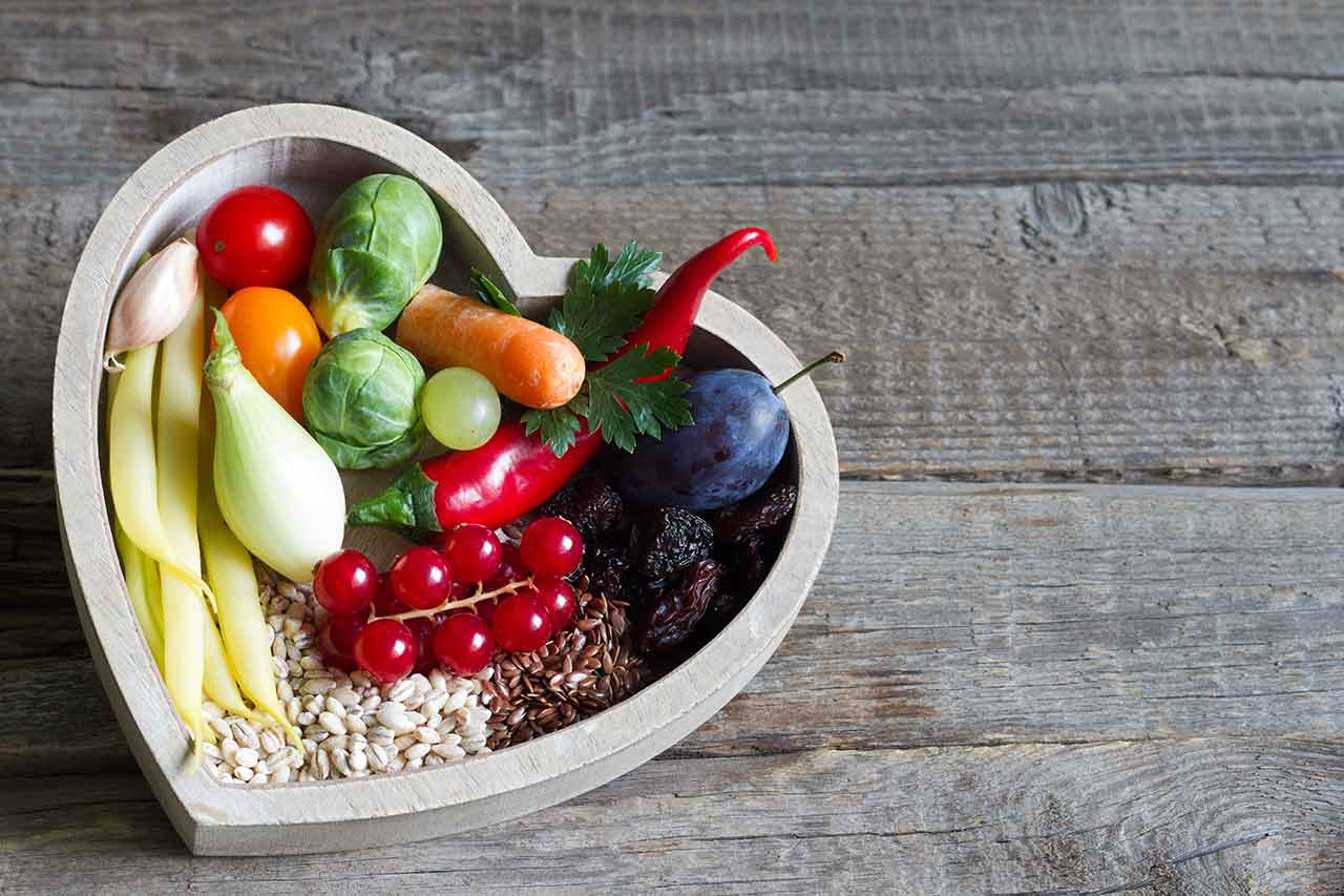 healthy heart bowl of fruit