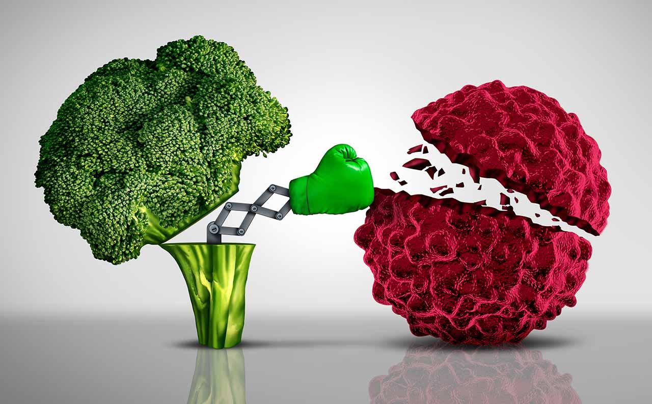 Image of broccoli punching corona virus